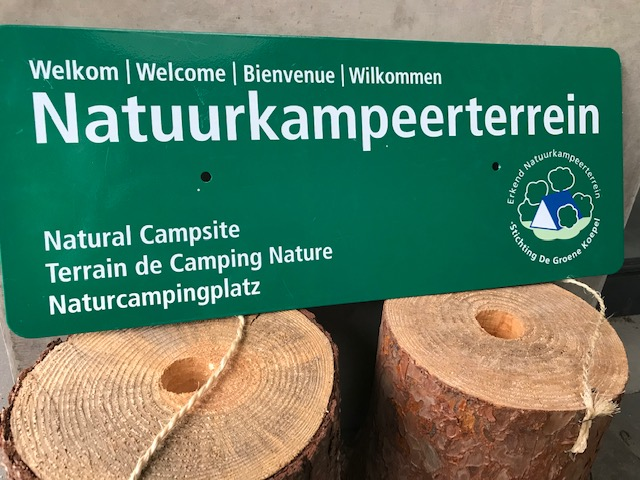 Erkend Natuurkampeerterrein bord